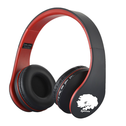 casque audio pliable couleur rouge / red